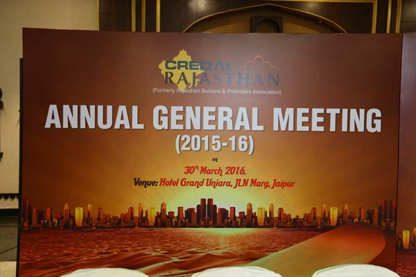 CREDAI Rajasthan Annual General Meeting at Grand Uniara